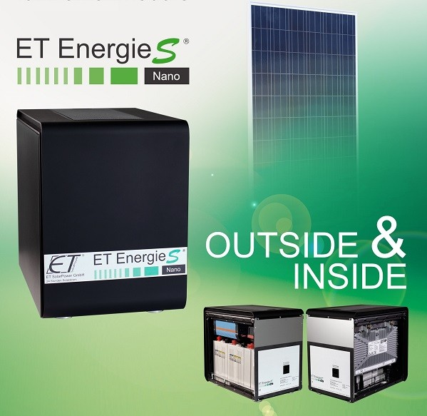 Aktion: ET EnergieS®-Nano-DCI 350W Inselnetzversorgung mit 2 St. LG 300N1T-G4.AVB bifaziales Hochleistungsmodul