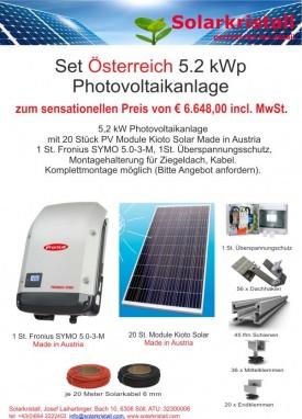 Aktion: Set Österreich 5.2 kWp Photovoltaikanlage